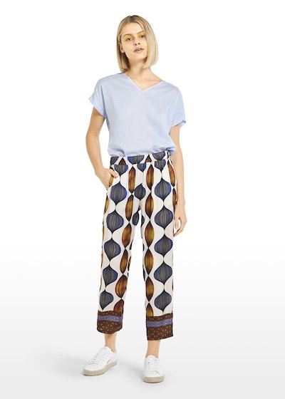 All-over fantasy Peder cropped trousers with contrasting edges