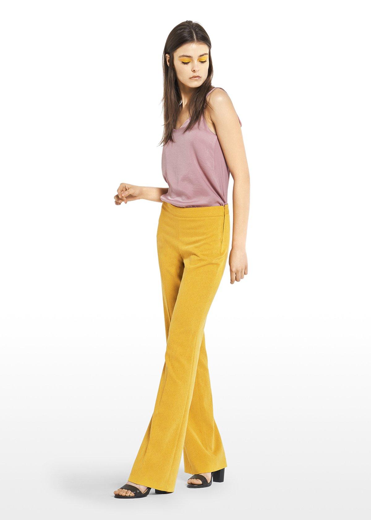 Pico trousers Victoria model jacquard fabric - Brown - Woman