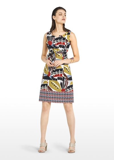 Afro cotton dress sun pattern