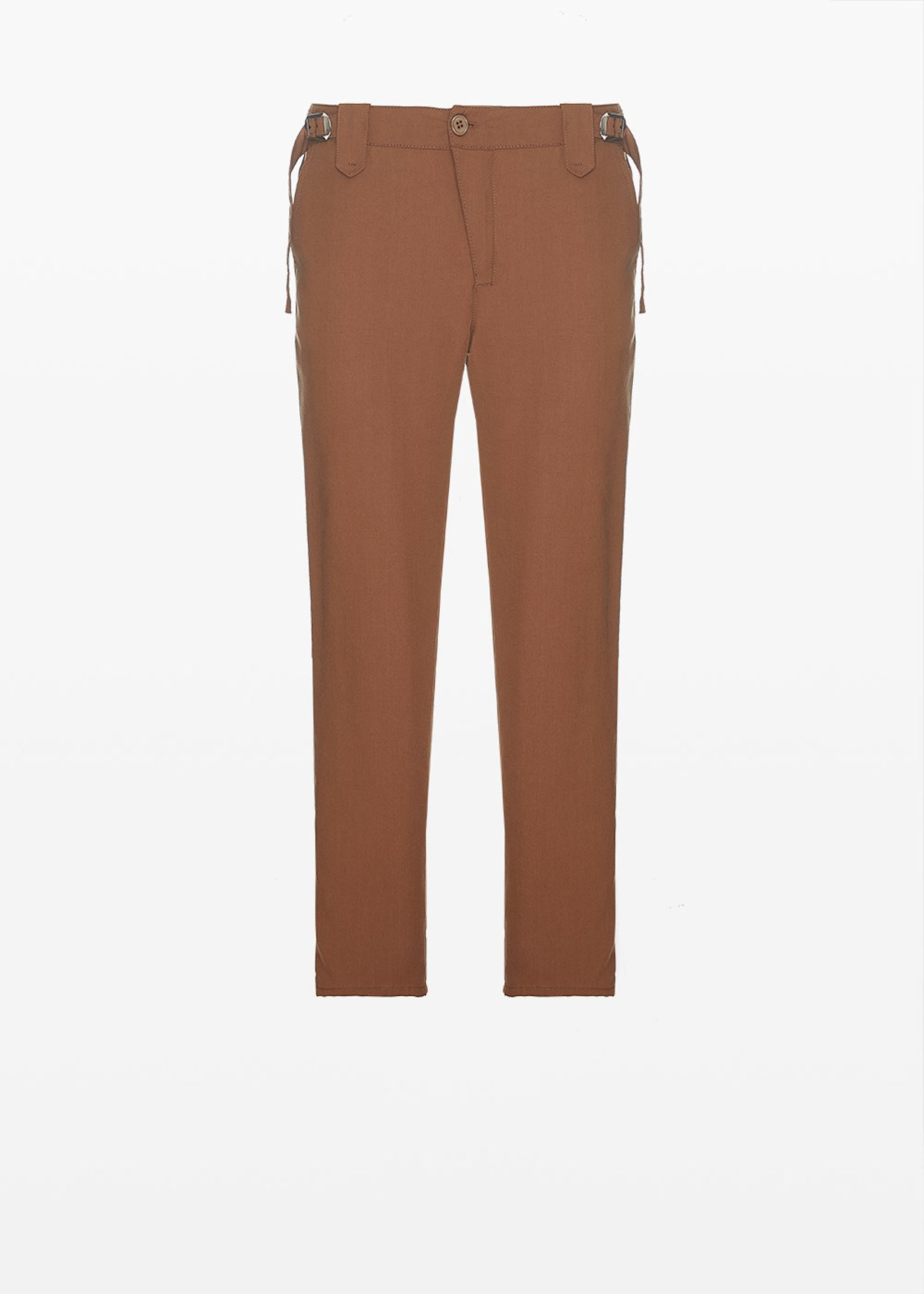 Prince capri trousers in lyocell fabric - Earth - Woman