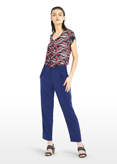 Primus cropped trousers in lyocell fabric