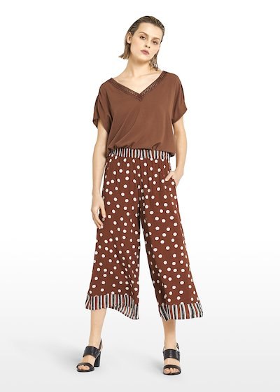 Paly capri pants  Megan design with stripes & pois fantasy