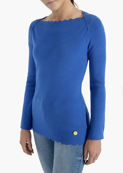 Canneté sweater Magda with boat neckline