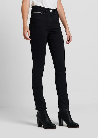 5 - pocket slim leg denim