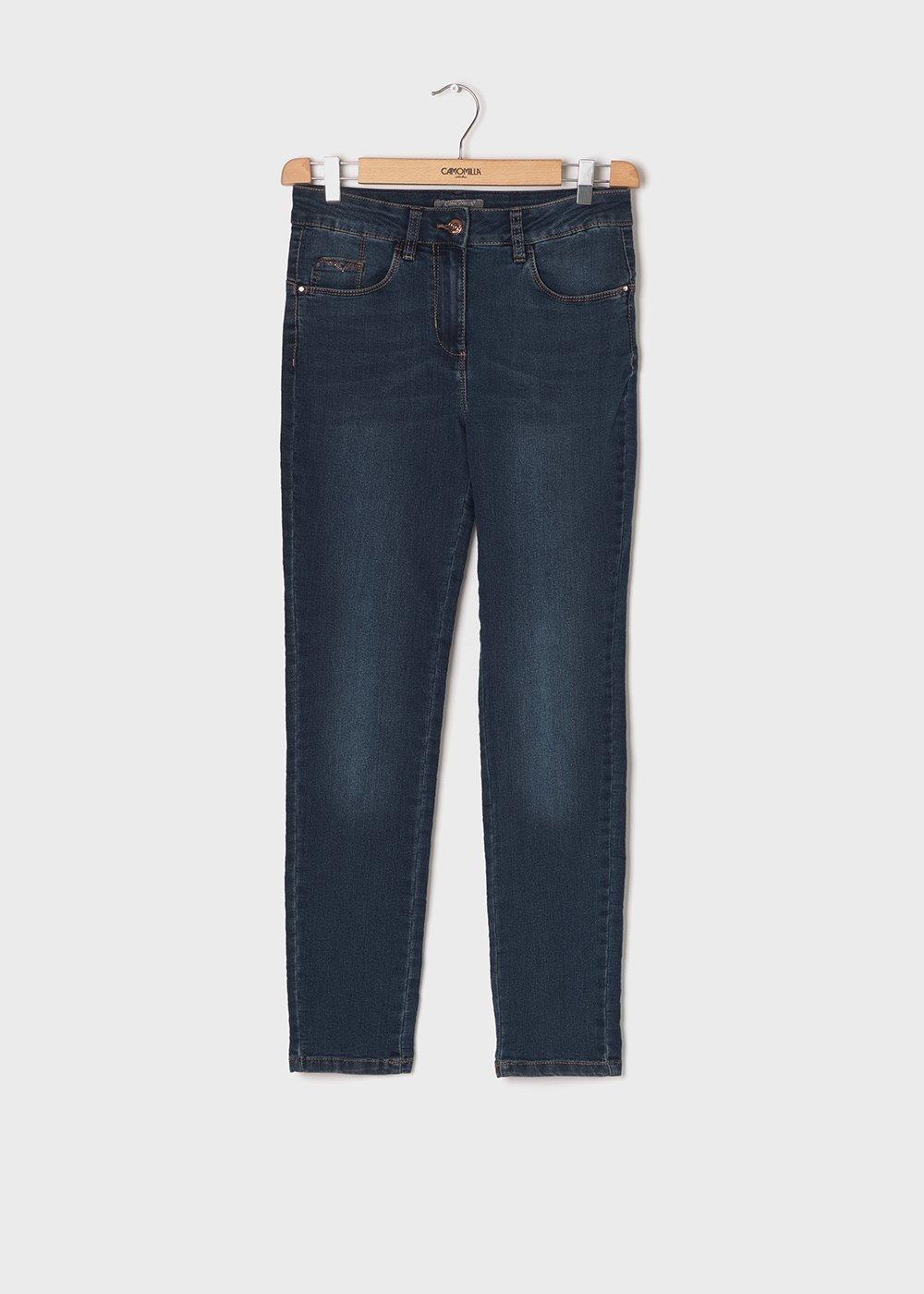 5 - pocket slim leg denim - Medium Denim - Woman