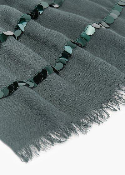 Pashmina basica Sequins con doppia linea di paillettes