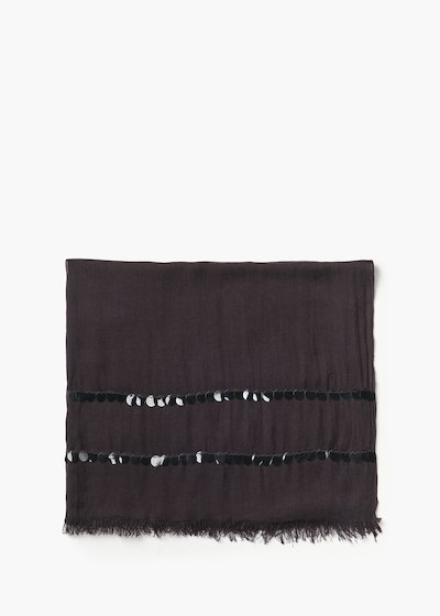 Sequins basic pashmina with double sequin line