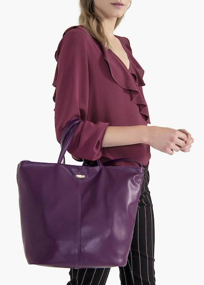 Shopping bag Bailee in eco pelle effetto nappa