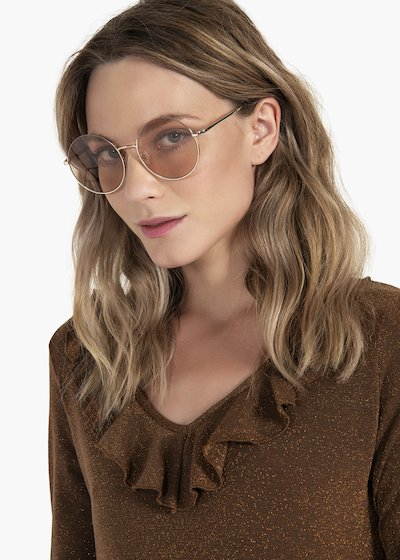 Round-shaped sunglasses