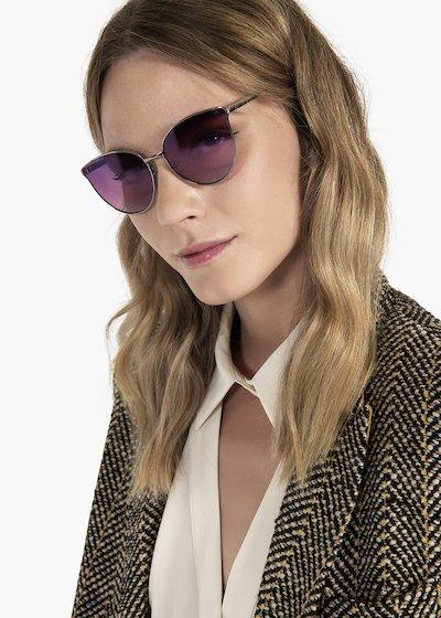 Sunglasses with gun metal frame