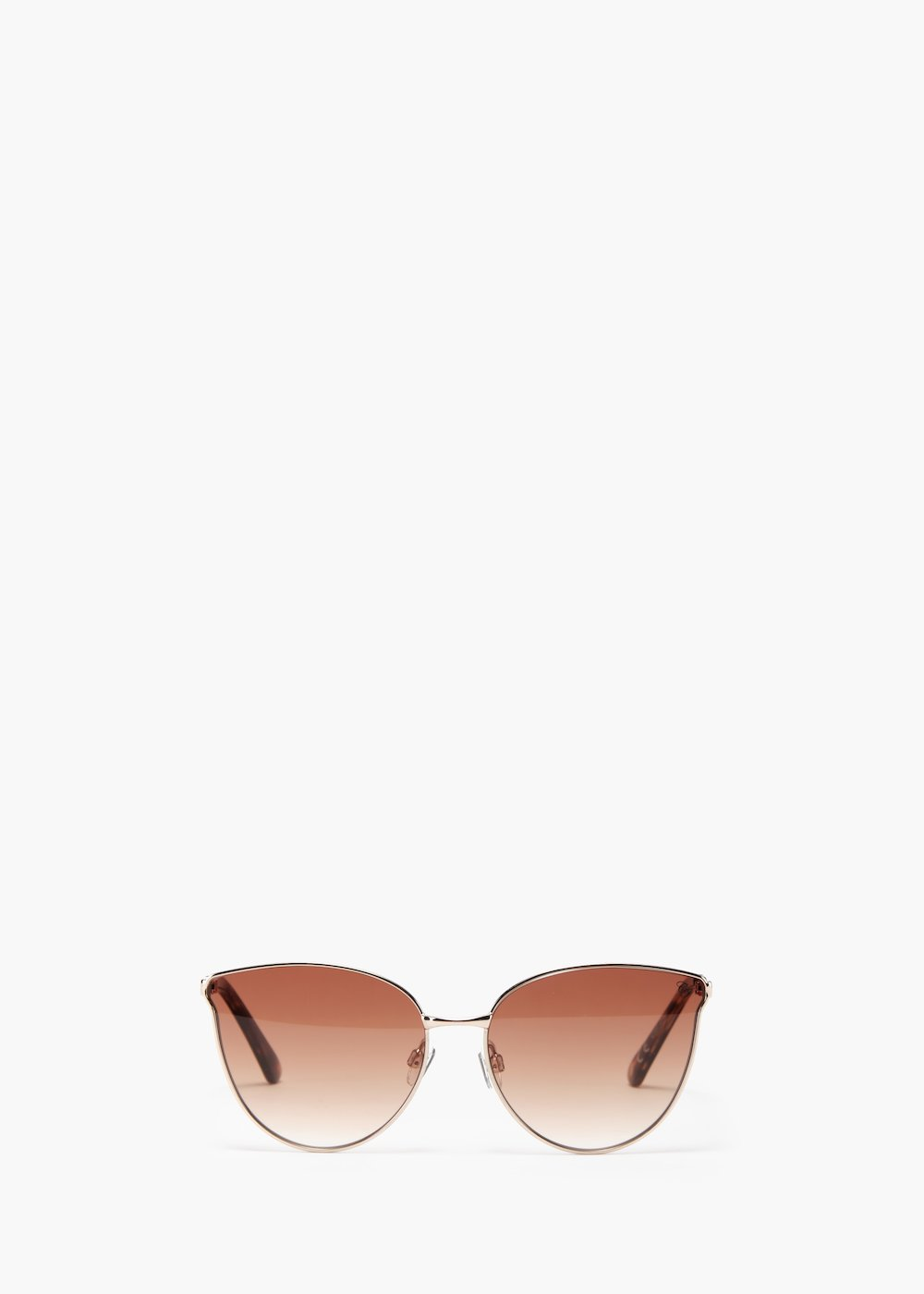 Sunglasses with gun metal frame - Brown - Woman