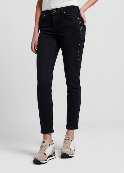 Dean denim with side studs