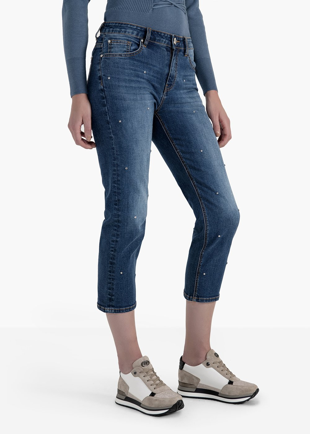Straight leg trousers Daryl in denim - Medium Denim - Woman