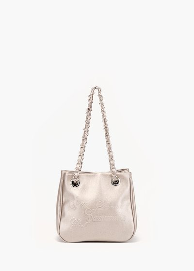 Micro Camo Glitter shopping bag in eco leather