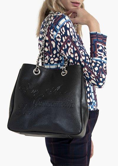Shopping bag Mini Camo Girl  in eco pelle con manici a catena
