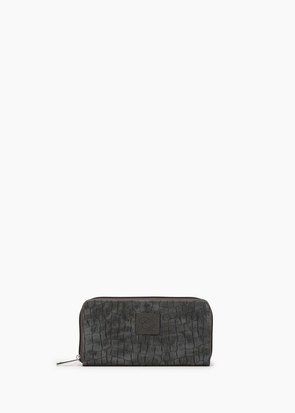 Phillys wallet in eco leather with coco print - Dark Grey - Woman