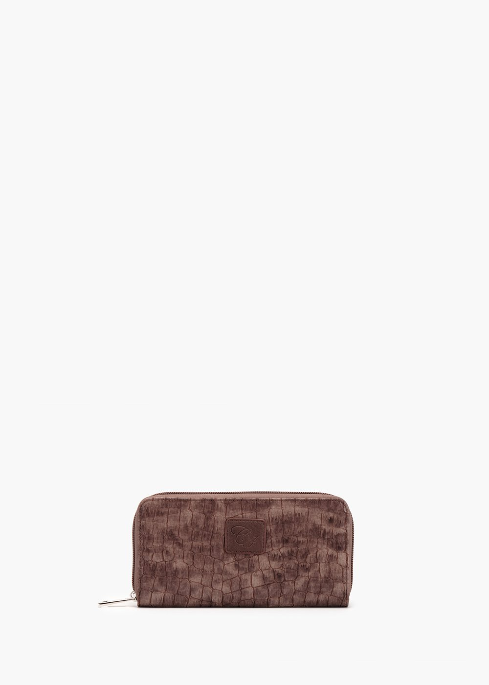 Phillys wallet in eco leather with coco print - Brown - Woman