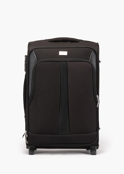 Trish nylon trolley with eco leather inserts