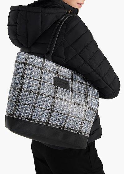 Shopping bag Trend Tartan in tessuto tartan con doppi manici
