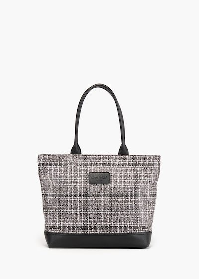 Trend Tartan shopping bag in tartan fabric with double handles