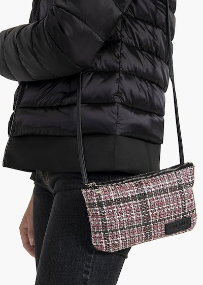 Pochette in tessuto tartan Tonga Tartan passion/black