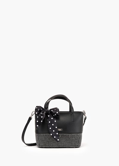 Baly bag in eco leather with bow detail