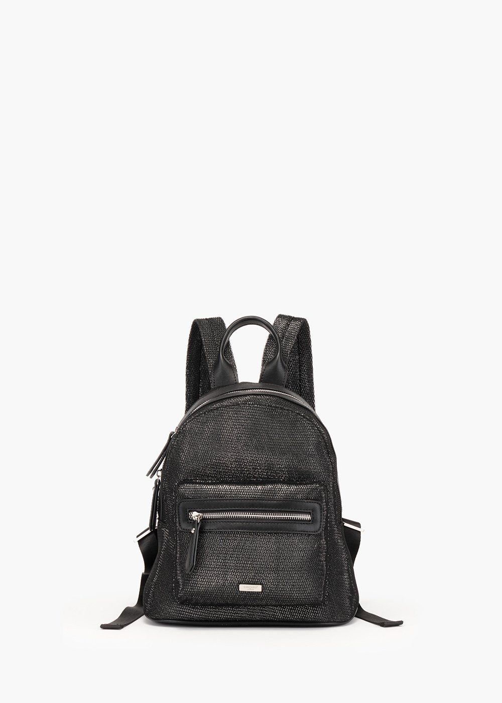 Basyl backpack in micromesh - Black / Silver - Woman