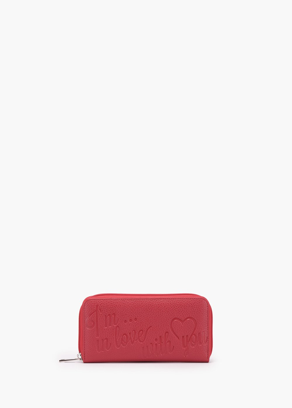 Palmir wallet in eco-leather with deer print - Red - Woman