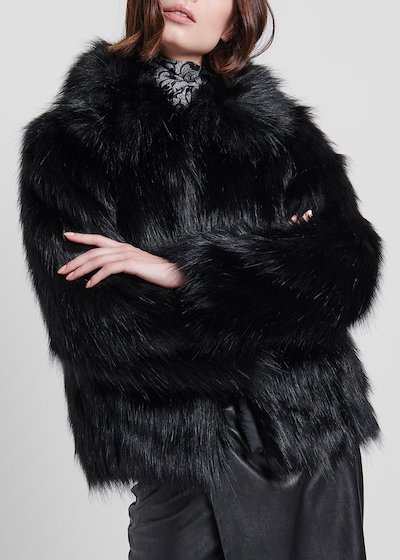Short faux-fur outerwear