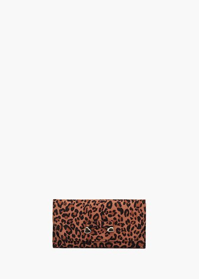 Phoenix wallet with animalier print