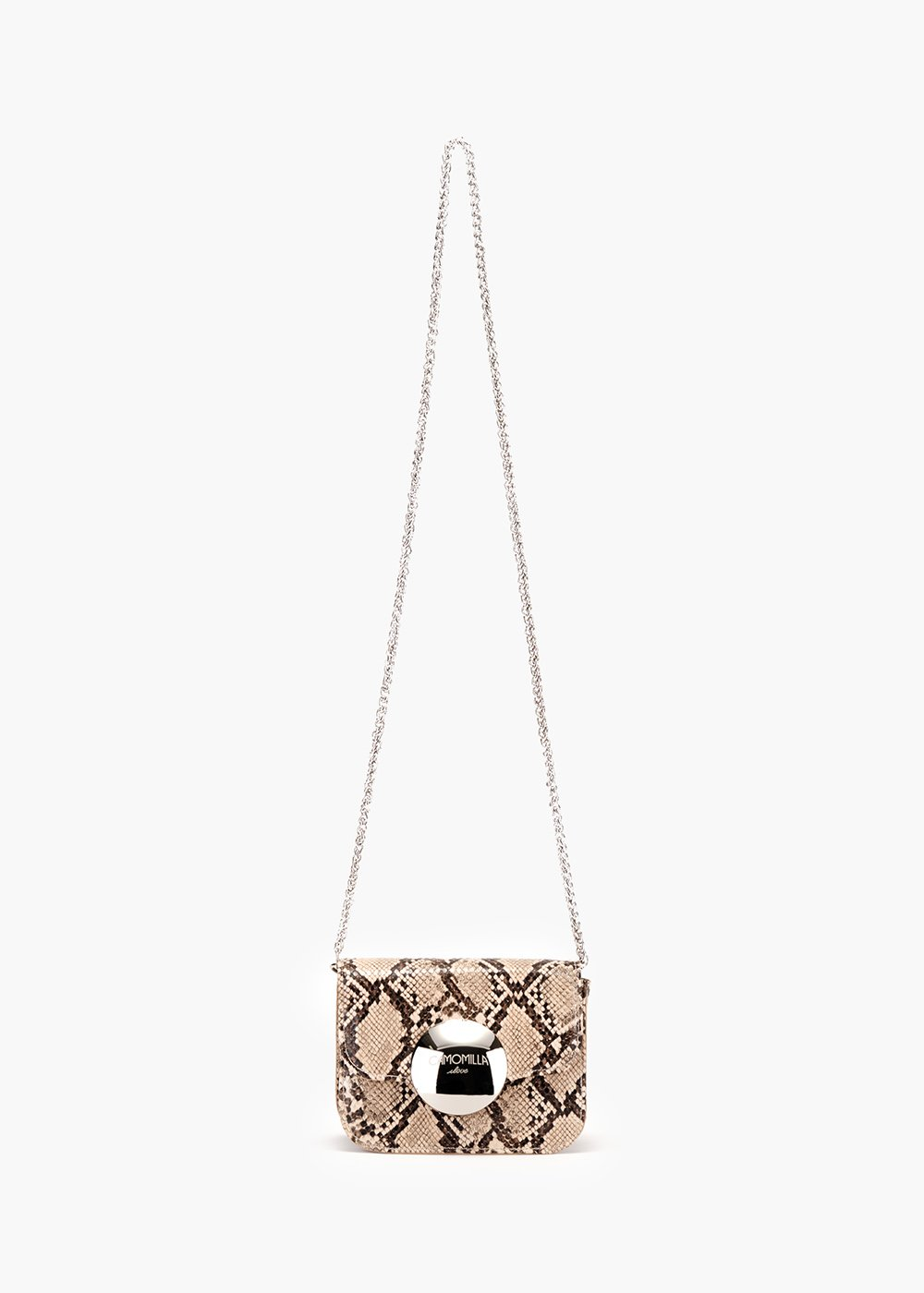 Baku pochette in eco python leather - Mostarda /    Suolo / Animalier - Woman
