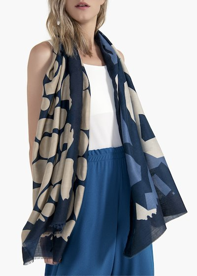 Sharylin scarf with abstract design