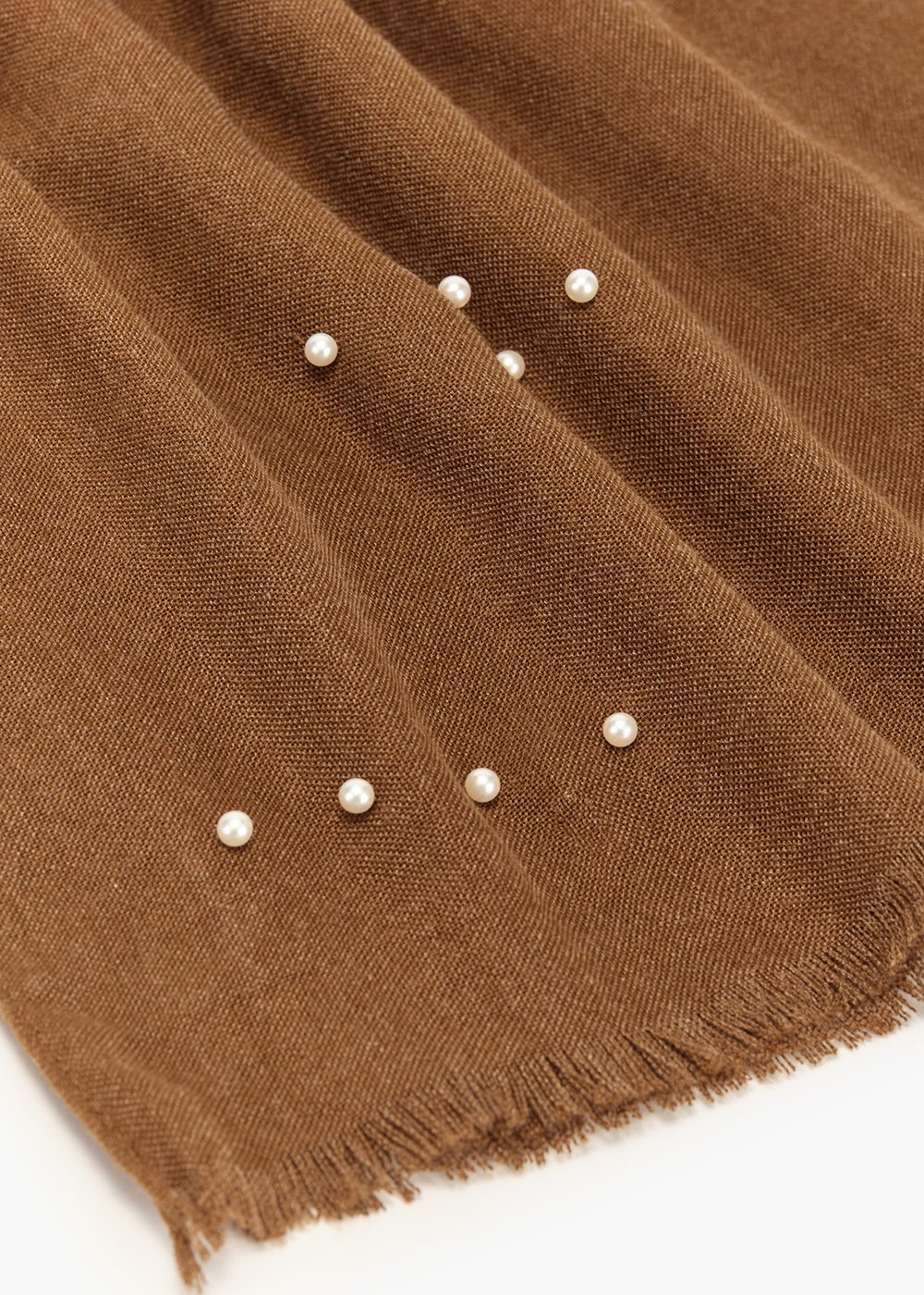 Shellie scarf with pearl detail