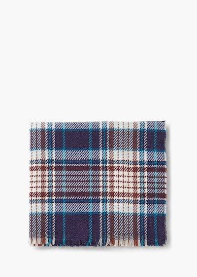 Sheryll tartan scarf with fringe