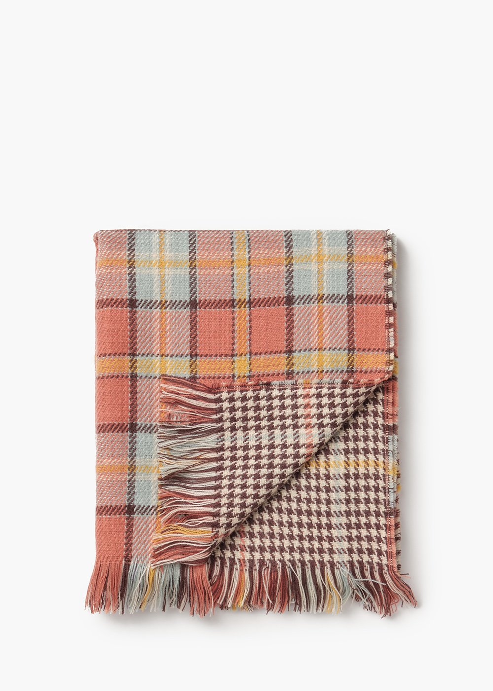 Stefany tartan scarf double design - Suolo Fantasia - Woman