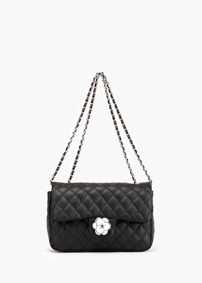 Giada Camelia pochette in stitched eco leather