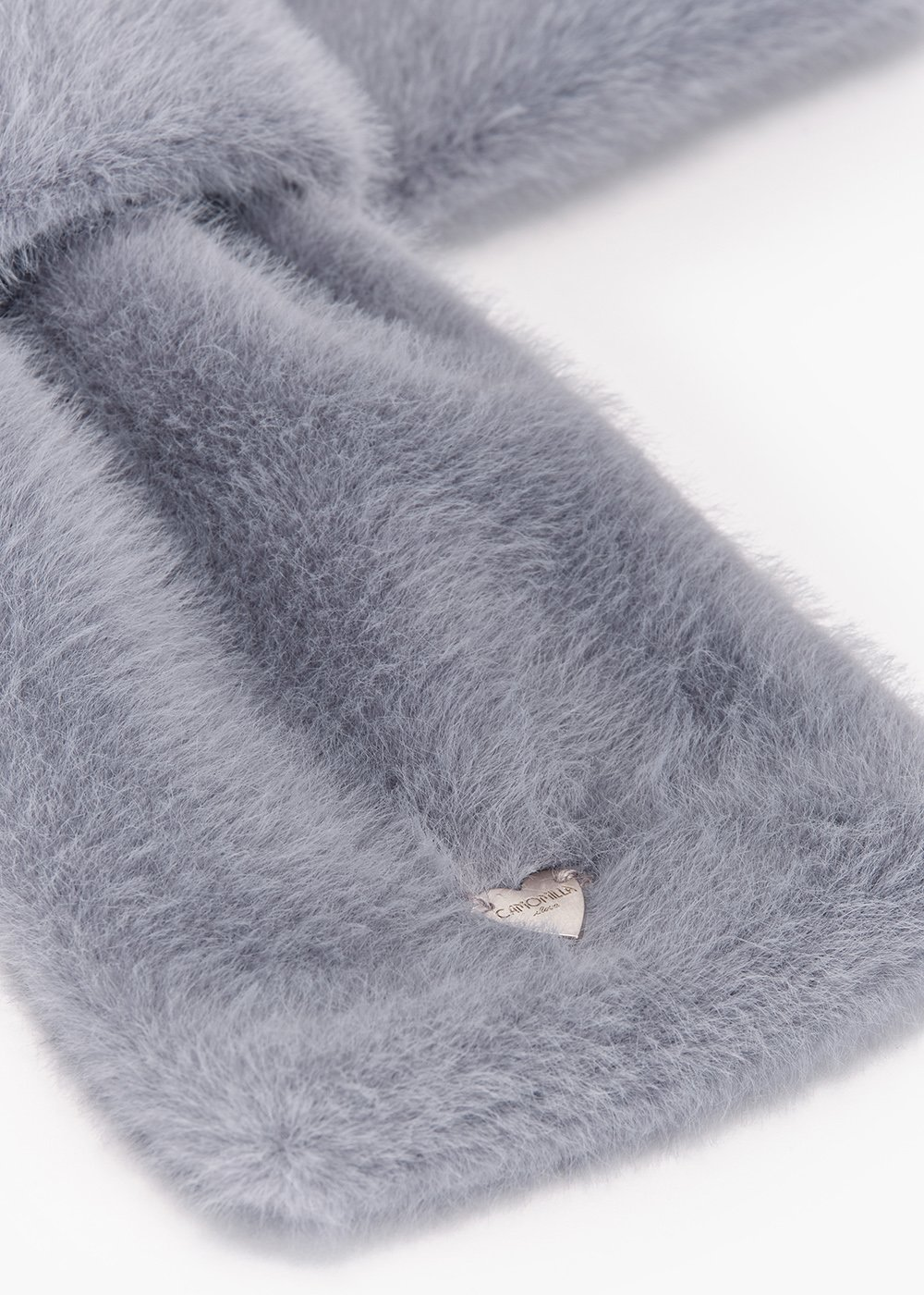 Stone fur collar with through closure - Grey - Woman