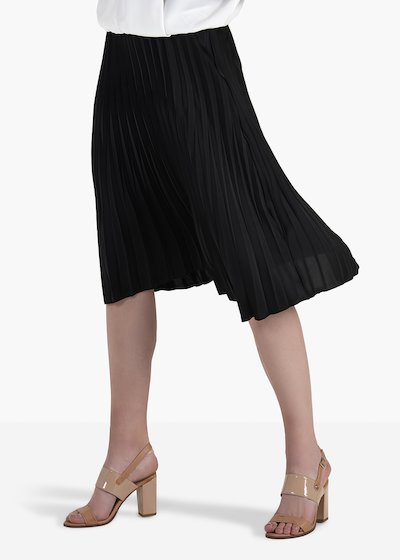 Ginevre pleated skirt with elastic waistband