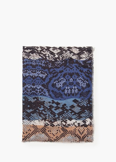 Song scarf in viscose animal print