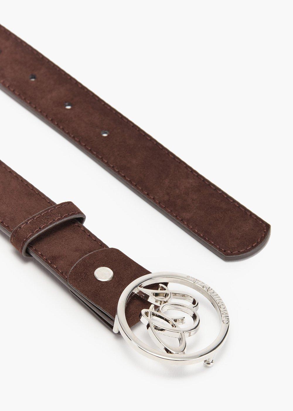 Cintura Cinty da passante in eco camoscio - Marrone - Donna