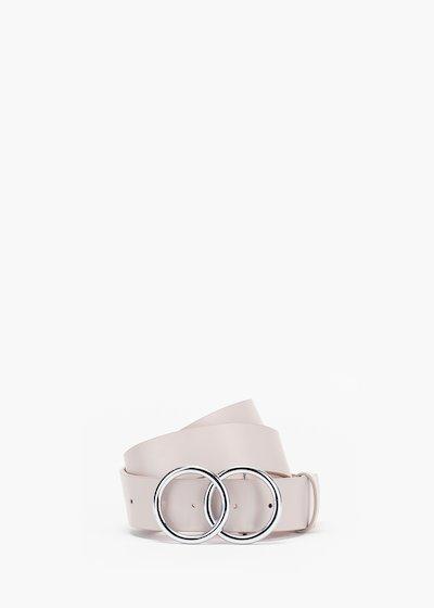 Cintura Carly in eco pelle chiusura doppo anello