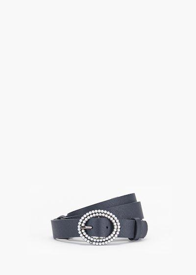Cintura Cher in eco pelle con fibbia micro perle