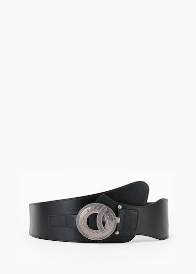 Cherly belt in eco leather with gun metal metallic closure