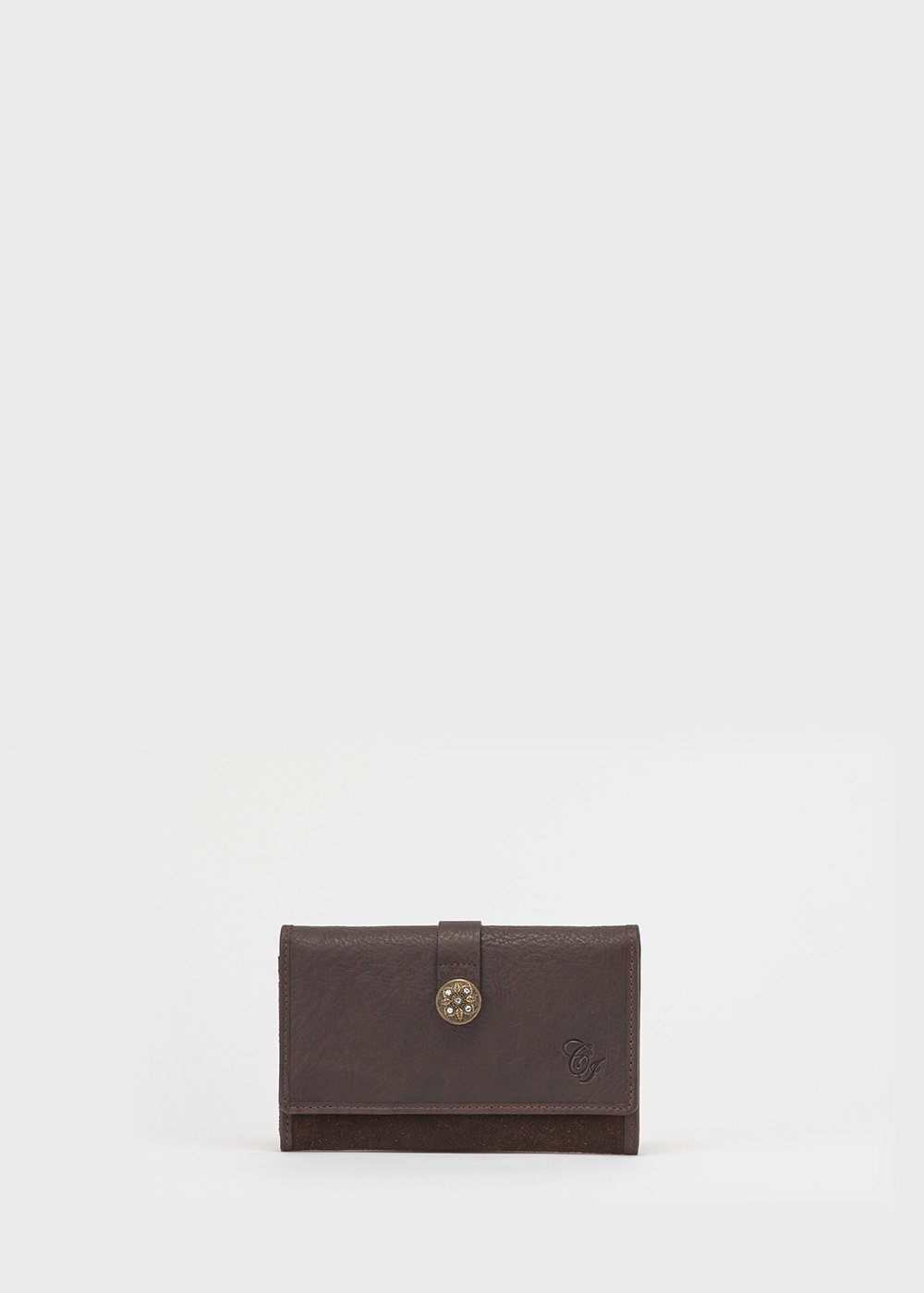 Percy leather wallet - Brown - Woman