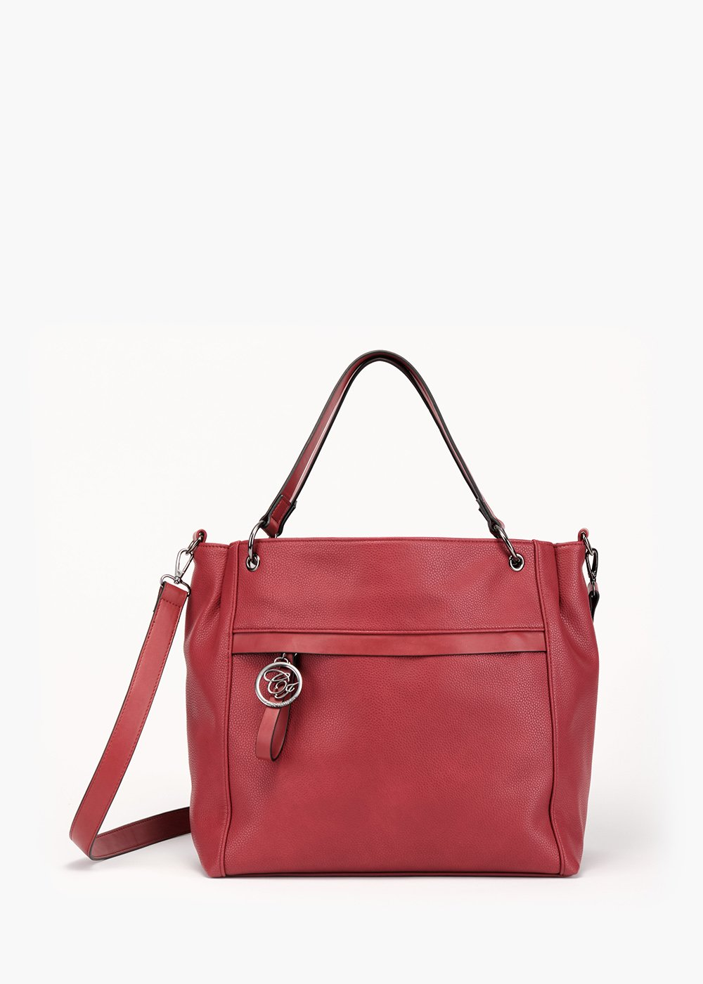 Bag Beckys in faux leather deer print - Red - Woman