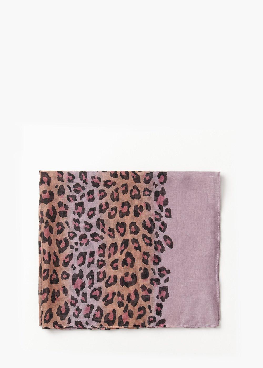 Sady multicolour animalier print scarf - Sughero / Solvente   Fantasia - Woman