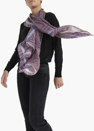 Sindy multicolour scarf with geometric designs
