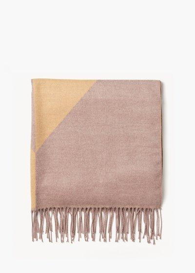 Maxi sciarpa Salley con stampa geometrica