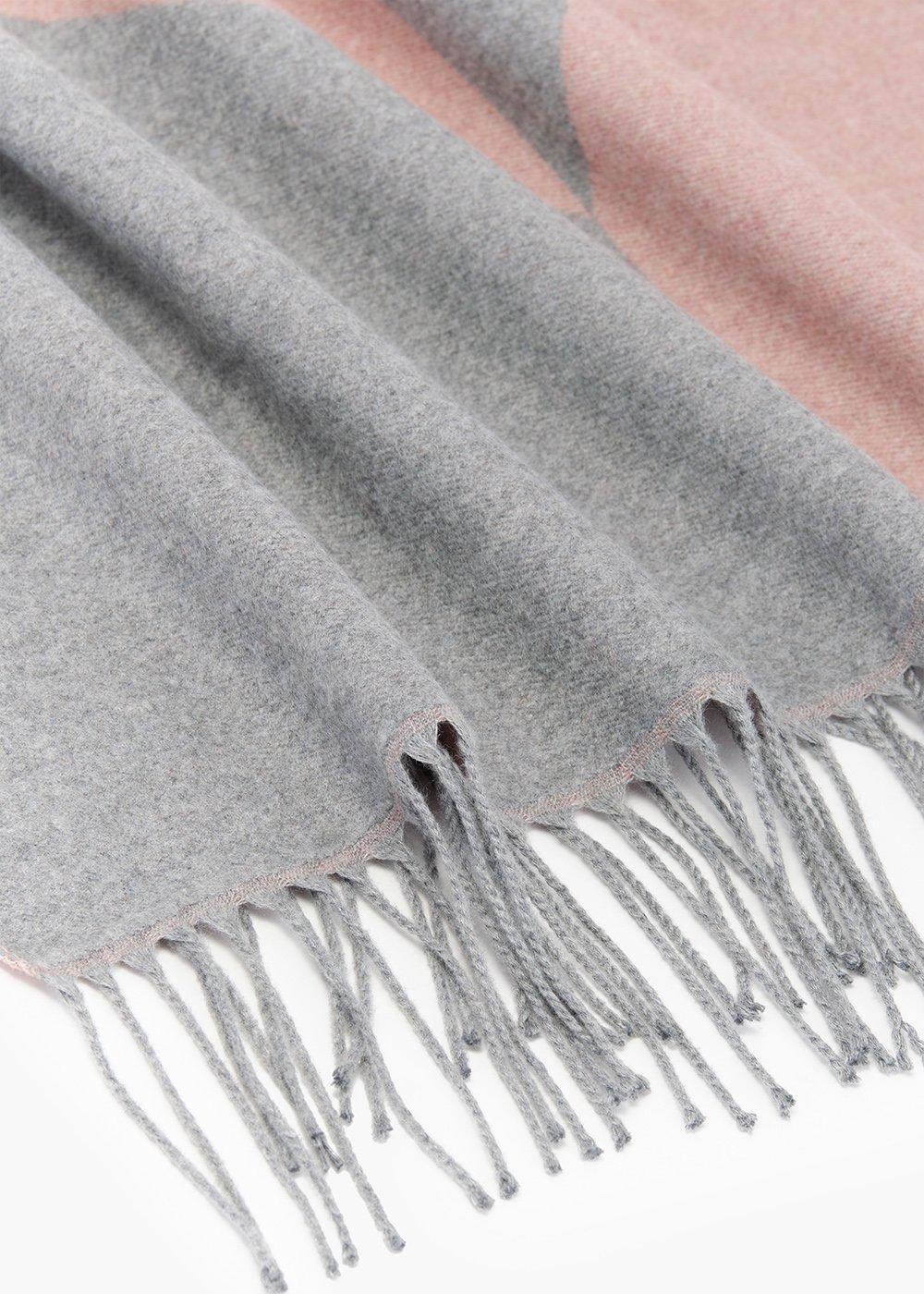 Maxi sciarpa Salley con stampa geometrica - Rosette /  Medium Grey - Donna