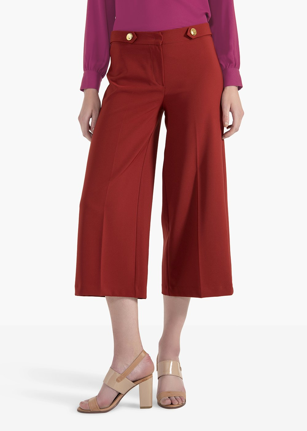 Paride Megan trousers in technical fabric - Ruggine - Woman
